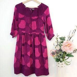 Girls from Savoy | Anthropologie pink silk dress